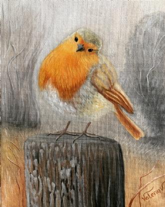 Robin  by Valeria Krynetskaya | maleri
