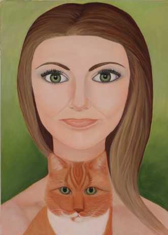 Sonja & Bob by Valeria Krynetskaya | maleri