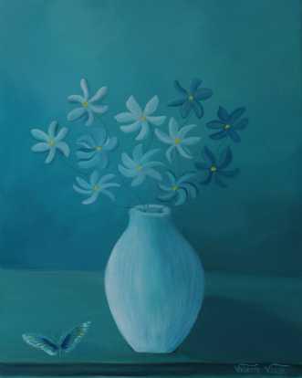 Daydream's bouquet by Valeria Krynetskaya | maleri