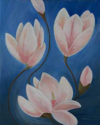 Magnolia by Valeria Krynetskaya | maleri
