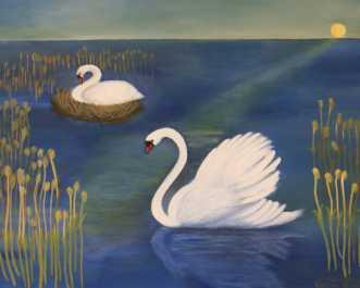 A pair of nesting s.. by Valeria Krynetskaya | maleri
