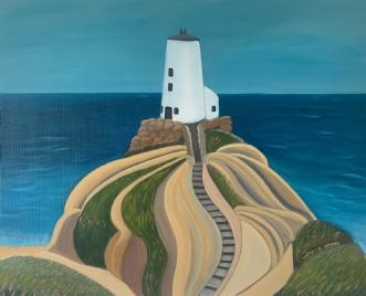 Lighthouse Tŵr Mawr, Wales afValeria Krynetskaya