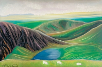 Snowdon, Wales by Valeria Krynetskaya | maleri