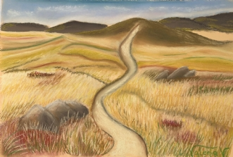 A path, Wales by Valeria Krynetskaya | maleri