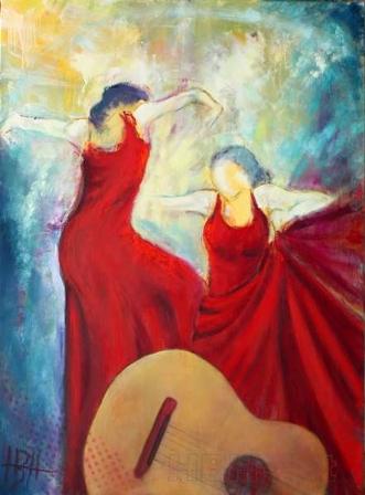 La Guitarra by Helle Borg Hansen | maleri