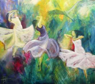 Livets dans by Helle Borg Hansen | maleri