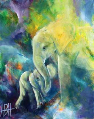 Elefantens vise by Helle Borg Hansen | maleri