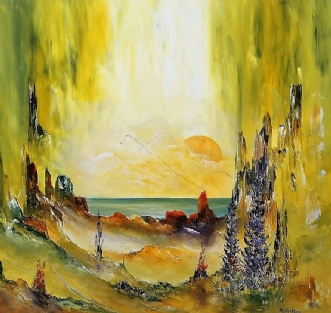 Håbefulde stunder by Kurt Olsson | maleri