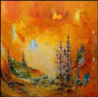 Lysets vej by Kurt Olsson | maleri