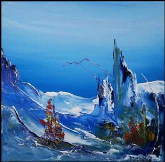 Vil du med by Kurt Olsson | maleri