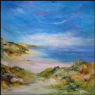 Vestkyst stemning. by Kurt Olsson | maleri