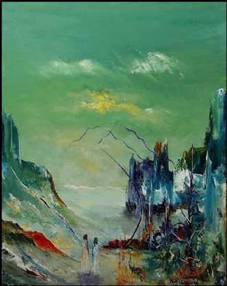 Skal det være os to.. by Kurt Olsson | maleri
