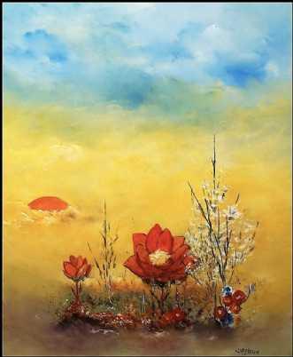Aften drømme by Kurt Olsson | maleri