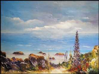 Morgen lys østkyste.. by Kurt Olsson | maleri