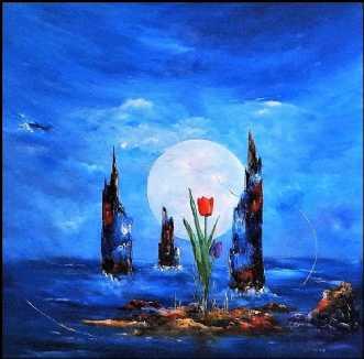 Blomsten i mit liv by Kurt Olsson | maleri