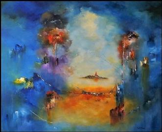 Tid til tanker by Kurt Olsson   maleri