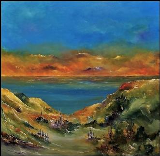 Aften lys mod vest by Kurt Olsson   maleri