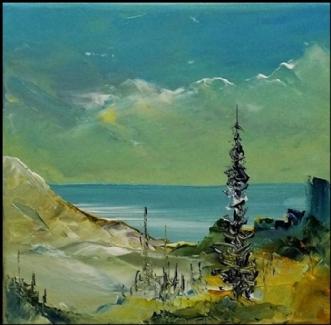 Østkysten by Kurt Olsson   maleri