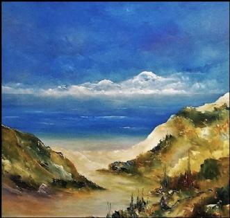 Vestkysten by Kurt Olsson   maleri