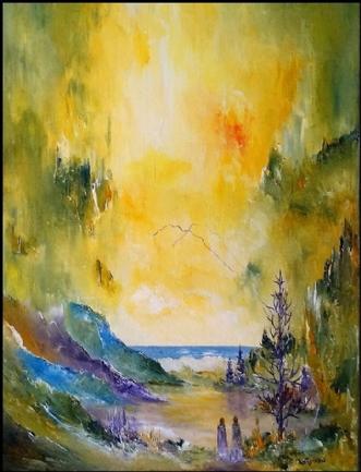 Tankefulde stunder by Kurt Olsson | maleri