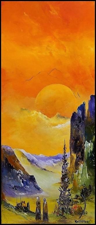 Lad os følges by Kurt Olsson | maleri