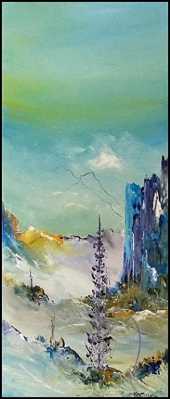 Tiden sig nærmer by Kurt Olsson   maleri