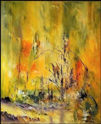 Lysspejling by Kurt Olsson   maleri