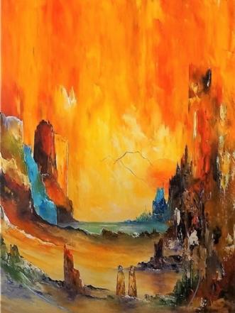 En rejse i tiden by Kurt Olsson | maleri