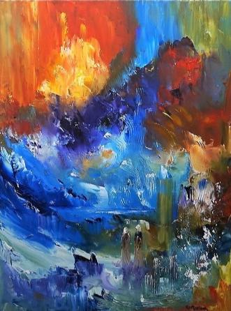 Tag mig med by Kurt Olsson | maleri