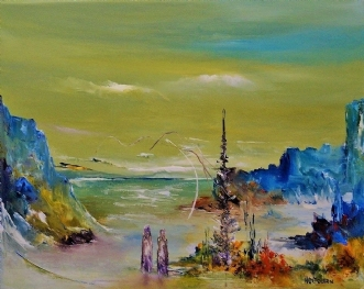 Brydningstid by Kurt Olsson | maleri