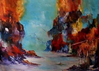 Dyb forundring. by Kurt Olsson | maleri