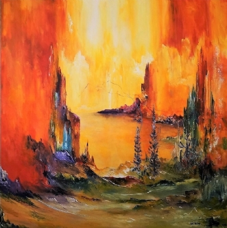 Stille sted by Kurt Olsson | maleri