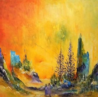 Lysningen by Kurt Olsson | maleri