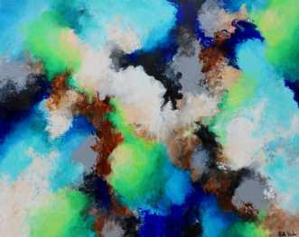 Luft under vingerne by Mette Vester | maleri