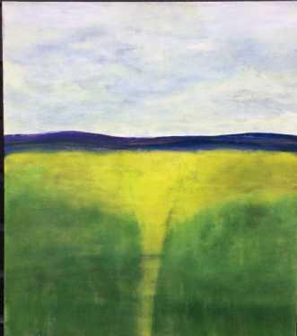grønne enge by Lisa Astrup | maleri