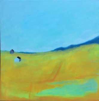 Husene i dalen by Lisa Astrup | maleri