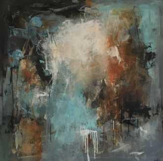 Havgus ved strandbr.. by Filica Lysfalk | maleri