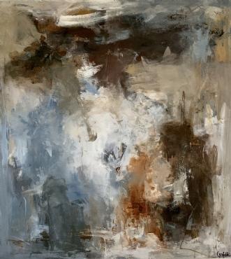 NÅR FUGLEN LETTER by Filica Lysfalk | maleri