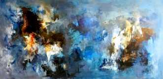 DAM OVER WATER by Filica Lysfalk | maleri