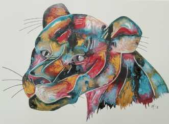 ingen titel by Maj-Britt Henriksen | maleri