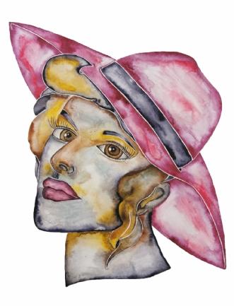 Classic lady 4 by Maj-Britt Henriksen | maleri