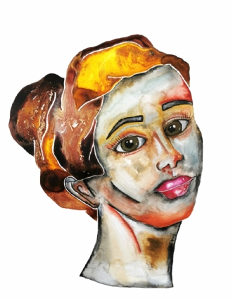 Classic lady 6 by Maj-Britt Henriksen | maleri