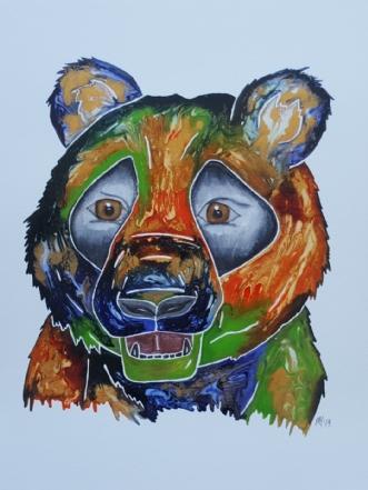 Panda by Maj-Britt Henriksen | maleri