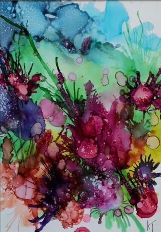 'Tillys flower' by Kirsten Toft Andersen | maleri