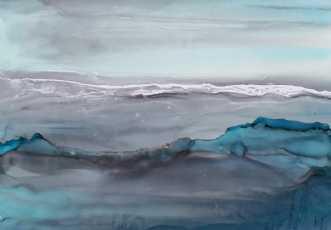 'Ocean side' by Kirsten Toft Andersen | tegning