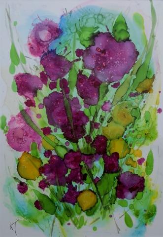 'Duften af sommer' by Kirsten Toft Andersen | tegning