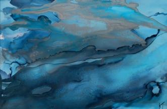 'Høj sø' by Kirsten Toft Andersen | tegning