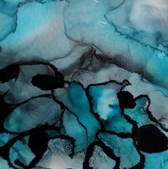 'Iskolde flager' by Kirsten Toft Andersen | tegning