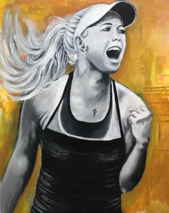 Miss Sunshine by Maj-Britt Olesen | maleri