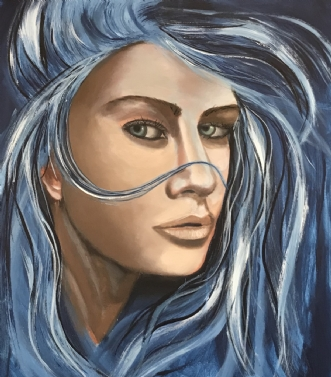 Hello by Maj-Britt Olesen | maleri